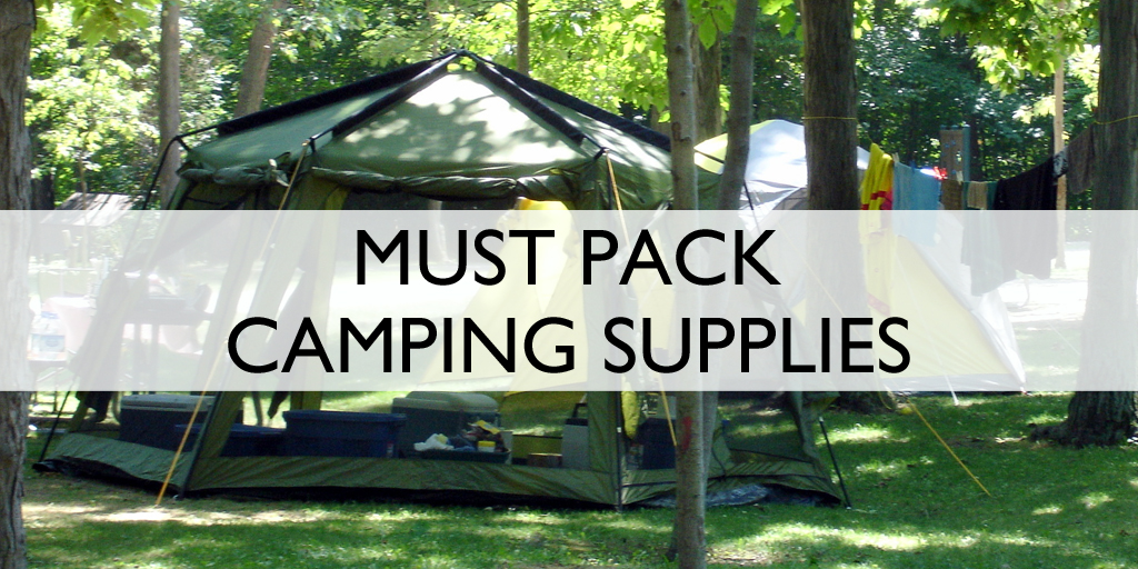 Camping Supplies to pack