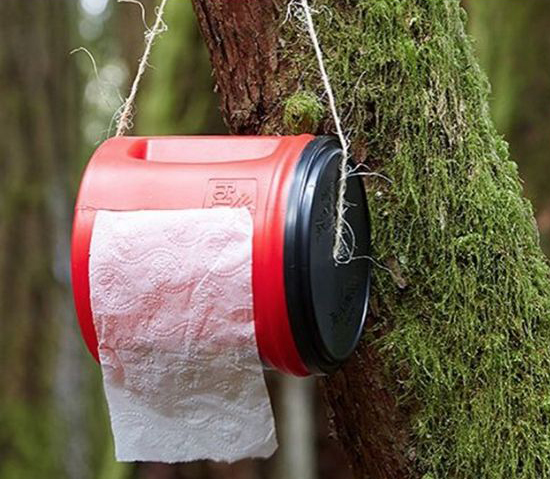 Toilet Paper Camping Hack
