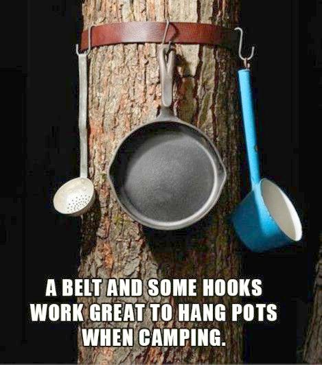 pots and pan hanger