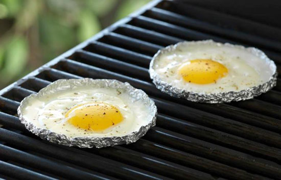 Fried Eggs for Camping