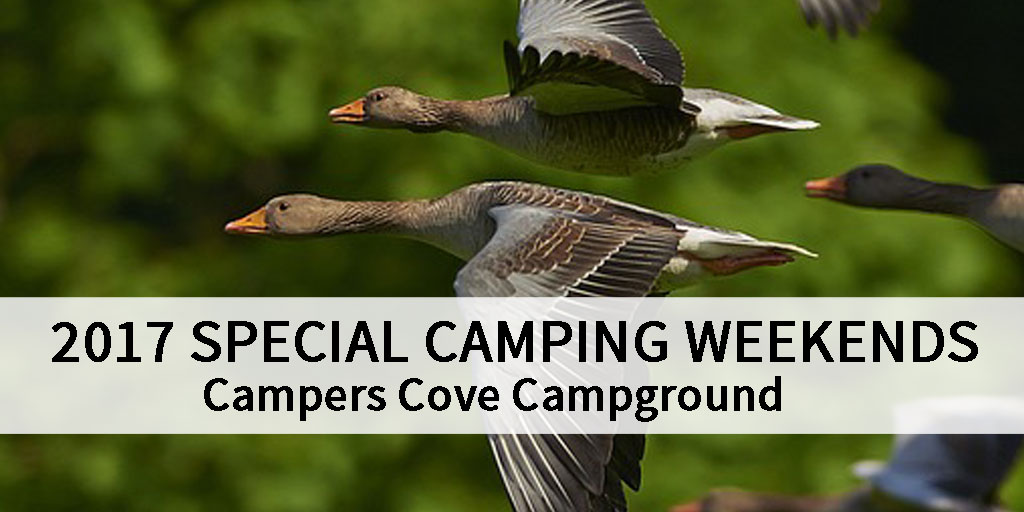Campers Cove Campground 2017 special camping weekend deals