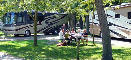 Campers Cove Campground overnight sites